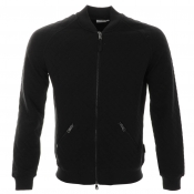 J Lindeberg Randy Quilted Full Zip Jumper Black