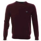 Fred Perry Classic Tipped Jumper Purple