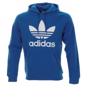 Adidas Originals Trefoil Hooded Jumper Blue