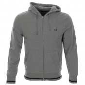 Fred Perry Bold Hooded Sweatshirt Jumper Grey