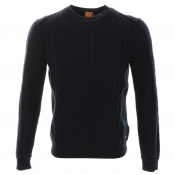 HUGO BOSS Orange Klaas Jumper Navy