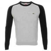 Lacoste Live Raglan Sleeve Knitted Jumper Grey