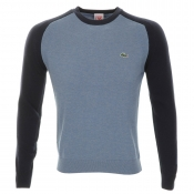 Lacoste Live Raglan Sleeve Knitted Jumper Navy