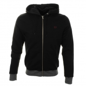 Fred Perry Fine Striped Hooded Jumper Black