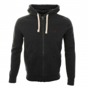 Ralph Lauren Hooded Athletic Fleece Jumper Grey