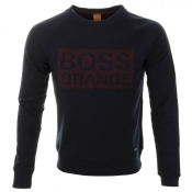 HUGO BOSS Orange Wacce Sweatshirt Jumper Navy