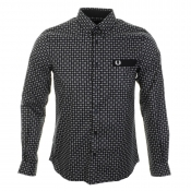Fred Perry X Drakes Medallion Shirt Navy